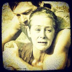 Daryl holding Carol