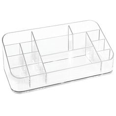 interdesign clarity cosmetic organizer for vanity cabinet to hold makeup beauty products lipstick clear