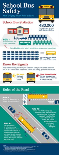 School Bus Safety Tips School Bus Driving, School Bus Safety, School Buses, Drivers Ed, Bus Driver, Teen Driver, Safe Driving Tips, Accident Injury, Wheels On The Bus
