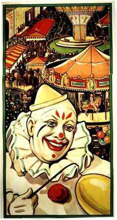 CLOWN AND CARNIVAL STOCK POSTER