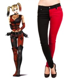 Harley Quinn inspired jeans, I would so wear these!!