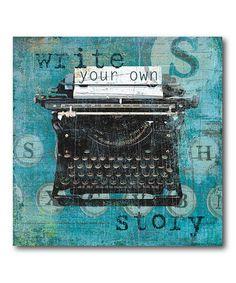Look what I found on #zulily! Typewriter Gallery-Wrapped Canvas #zulilyfinds