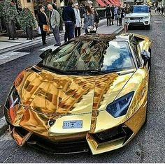 What do you think of this gold Lamborghini? Would diamonds be better What do you. What do you think of this gold Lamborghini? Would diamonds be better What do you think of this gold Lamborghini? Luxury Sports Cars, Top Luxury Cars, Exotic Sports Cars, Cool Sports Cars, Exotic Cars, Sport Cars, Cool Cars, Carros Lamborghini, Gold Lamborghini