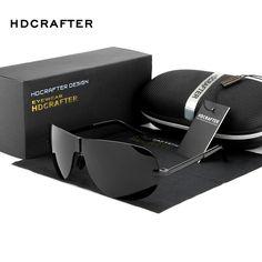 Hot Sunglasses for Men 2017 HDCRAFTER Brand Designer Polarized Driving Outdoor Sun Glasses for Male oculos de sol Free Shipping