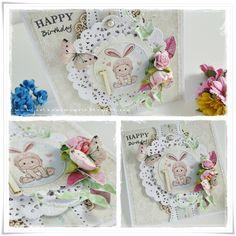 Birthday card / Kartka urodzinowa / Scrapbooking / Cardmaking / Handmade / Crafting Cardmaking, Decorative Boxes, Crafting, Scrapbooking, Birthday, Frame, Blog, Handmade, Home Decor