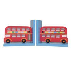 Childrens' London Bus Bookends www.travellingsouk.com