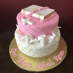 First Communion Cake Communion Cakes, First Communion, Cross Cakes, Birthday Cake, Desserts, Food, First Holy Communion, Tailgate Desserts, Deserts