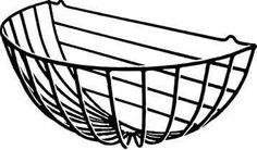 wall garden wire basket