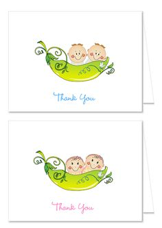Two peas in a pod baby shower invitation printable printable two peas in a pod baby shower thank you note cards filmwisefo