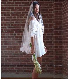 116 best short dress/long veil images  wedding dresses