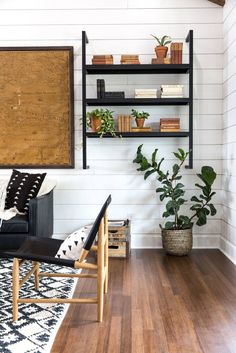 Fixer Upper   Chip and Joanna Gaines   Episode 16 The Little Shack on the Prairie   Living Room   Open Shelving