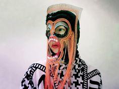 Damselfrau, Liorin, 2015, mask, mixed media, selfie
