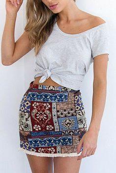 #Boho Fringe Skirt