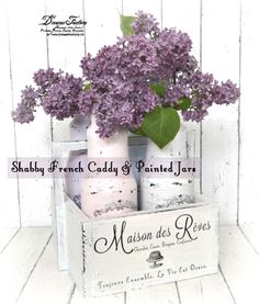 Shabby French Caddie & Soft Pastel Painted Jars!