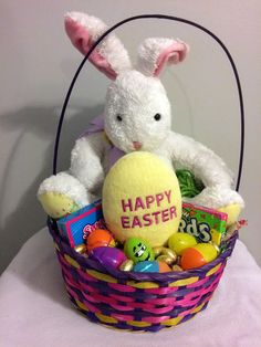 Pink love a lot care bear easter gift basket easter gift baskets 25 ebay some bunny loves me happy easter gift basket handmade negle Image collections