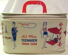 MINER: 1950s Lil Miss TEENAGER Train Case #vintage #toys