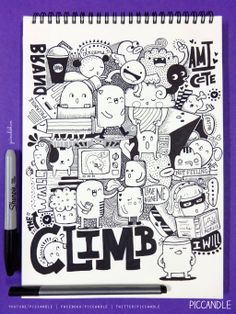 Doodle - Climb the Wall by PicCandle.deviantart.com on @deviantART