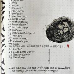 De vogellijstjes (1)   Bulletjournal.nl Bullet Journal