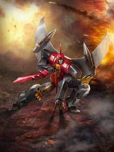 Dinobot Swoop Artwork From Transformers Legends Game