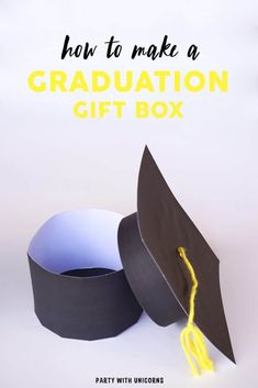 Are you celebrating a graduation soon? Download this free template to create a graduation cap gift box. This DIY Graduation gift box is perfect for graduates of all ages. #graduation #graduationgift #grad Preschool Graduation Gifts, Personalized Graduation Gifts, College Graduation Gifts, Graduation Party Decor, Grad Gifts, Grad Parties, Graduation Ideas, Graduation Quotes, Tropical Bridal Showers