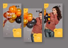 Item page design for balloons bouquets shop.