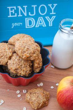 Haferflocken-Cookies mit Äpfeln und Möhren