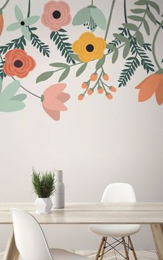 Browse & shop our range of stunning flower wallpaper & large scale floral mural designs. Large Floral Wallpaper, Flower Wallpaper, White Background Wallpaper, Bedroom Murals, Wall Murals, Wallpaper Space, Wallpaper Murals, Interior Paint Colors, Interior Plants