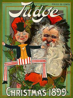 The Christmas cover of Judge Magazine, December (Cover art by Jan Smith) Christmas Cover, Victorian Christmas, Christmas Books, Father Christmas, Christmas Music, Vintage Christmas, Christmas Images, Merry Christmas, Christmas Postcards