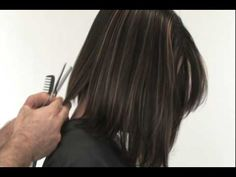 How To Cut: A-line Bob -Joe Hamer DVD'S - YouTube