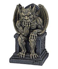 Loving this 7'' Hemlock Gargoyle Throne Statue on #zulily! #zulilyfinds