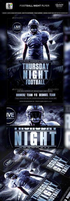 Football Night Flyer - Sports Events