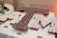 Chocolates in lieu of a grooms cake? We love this Texas A&M Idea!! Pinned from the blog of The Woodlands Wedding Photographer Angel Cruz