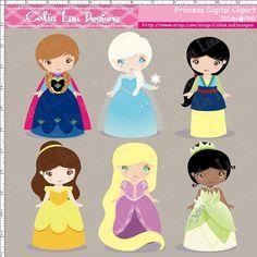 Princess Digital Clipart / Cute Clipart/ Card by CeliaLauDesigns, $5.00