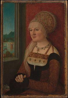Portrait of a Woman by Bernhard Strigel  (German,1460–1528) Date: ca. 1510–15, Oil on wood (38.4 x 26.7 cm)