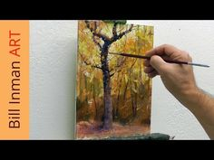 Learn to Paint Trees with Fall Leaves - 'Early One Morning' Oil Painting by Bill Inman - YouTube