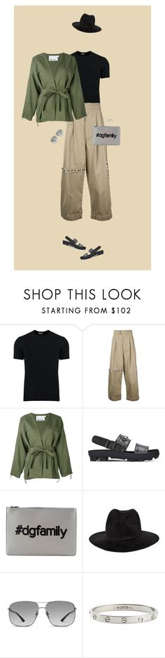 """""""Khaki outfit mens"""" by krisz-kn ❤ liked on Polyvore featuring Dolce&Gabbana, Craig Green, T By Alexander Wang, Gucci, Yohji Yamamoto, Cartier, men's fashion and menswear"""