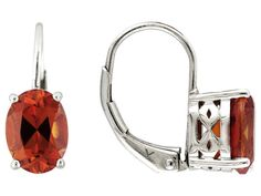 3.02ctw Oval Lab Created Padparadscha Solitaire Sapphire Sterling Silv