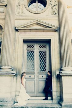 See Olga and Kam's 2 Guest $7,000 Paris Elopement @intimatewedding Photography by Tala Nicole. #pariswedding #elopement