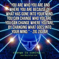 Tu és quem tu és e onde estás é resultado do que se passou na tua mente.   #zigziglar  #kurttasche  #successwithkurt