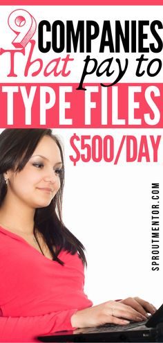 Make Money Online Surveys, Ways To Earn Money, Make Money From Home, Way To Make Money, Typing Jobs From Home, Online Typing Jobs, Online Jobs, Work From Home Companies, Work From Home Opportunities