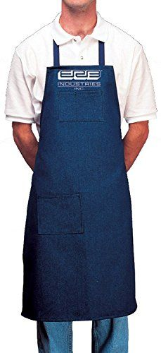 This Denim Shop Bib Apron saves your clothes from the stains and woodchips associated with shop work. This apron protects you with reasonably thick 10.5 oz. heavy- duty denim fabric. The dark Indigo c...