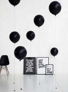 Méchant Design: black moodboard