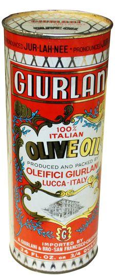Vintage Giurlani Star Olive Oil Tin #STARFineFoods