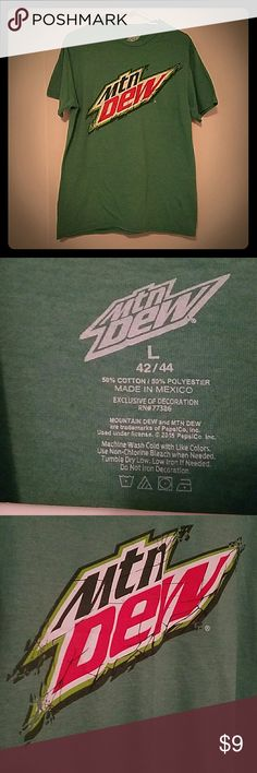 Like new Mt. Dew shirt Very soft and comfy men's large Mt. Dew shirt. Worn once. Like new condition. Smoke and pet free home. Shirts Tees - Short Sleeve