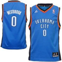 Oklahoma City Thunder Russell Westbrook Youth Replica Road Jersey