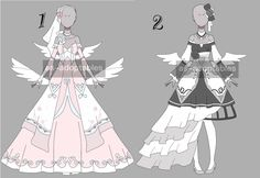 cute angel outfit adoptable batch CLOSED by AS-Adoptables on DeviantArt