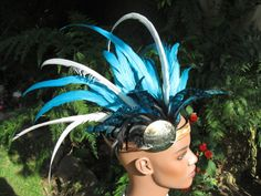 Tahitian Headpiece Turquoise Black