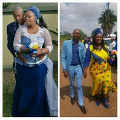 Leonard & Mokopi Dimpe's wedding celebration in Tswana & Tsonga attire..