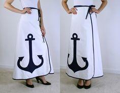 Wrap Skirt - Anchor Skirt. $50.00, via Etsy.