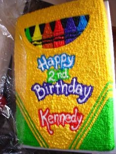 crayon box cake. I was such an art fanatic. I would have loved this as a kid